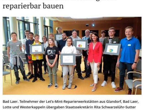 Bad Laerer Schüler im Umweltministerium