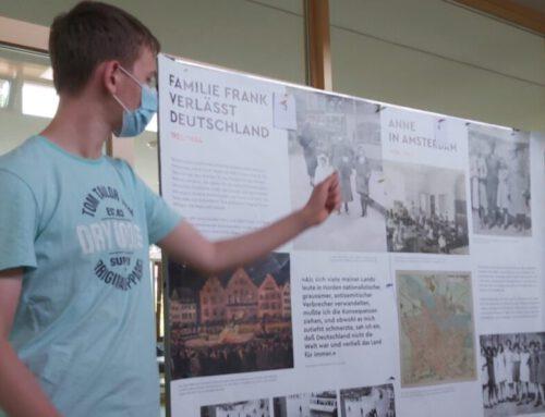 Schüler der 8a gestalten den Anne Frank Tag 2021 an der Geschwister Scholl Oberschule